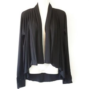 Calia Effortless Jersey Draped Cardigan Medium